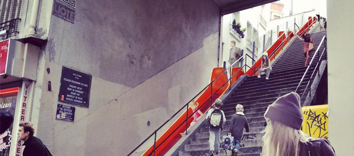 Projet de réaménagement des escaliers par le collectif 1week1project.